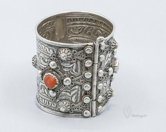 Rare bracelet de cheville argent Kabyle Algérie Kabylie