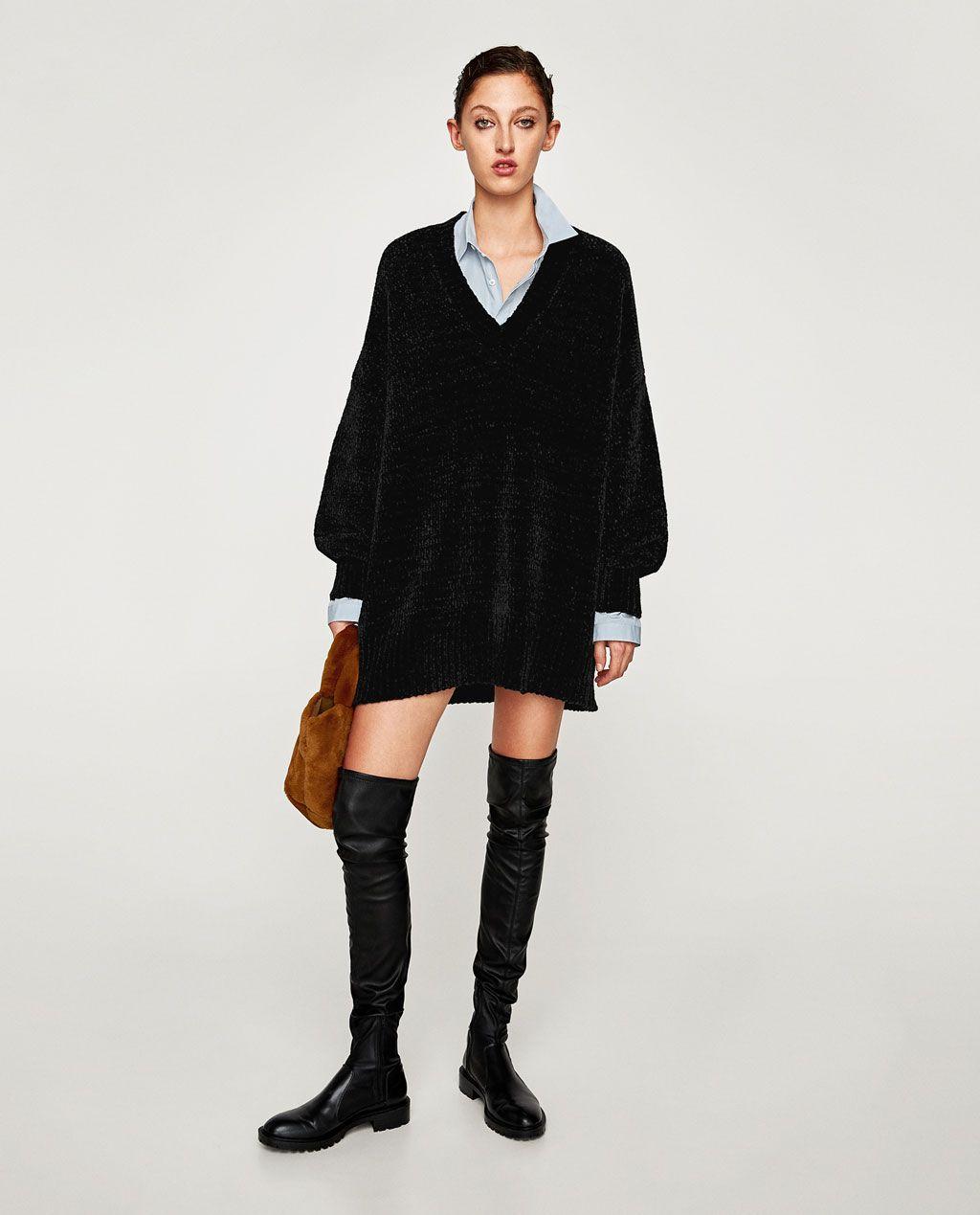 cba0b4d2 CHENILLE DRESS-Dresses-KNITWEAR-WOMAN   ZARA United States   wish ...