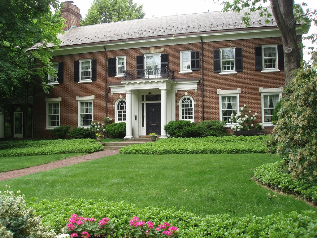 Georgian Colonial Mansion type of house: georgian colonial | front door project | pinterest