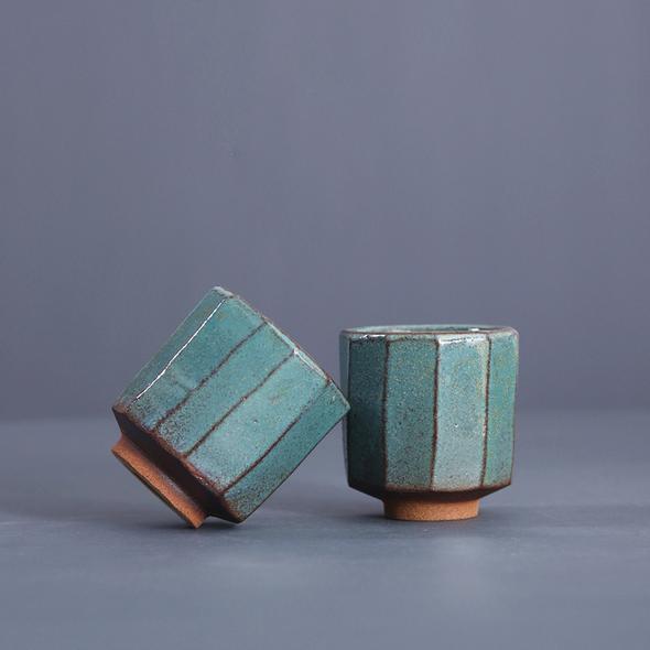 野 - Zhiye Stoneware handmade porcelain tea cup wine cup