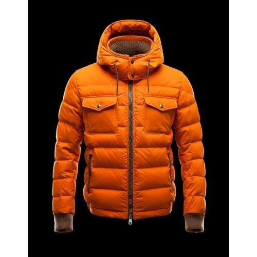 Down Coat, Moncler, Orange, Coats, Jordan Shoes, Free Shipping, Air Jordans, Men, Coat
