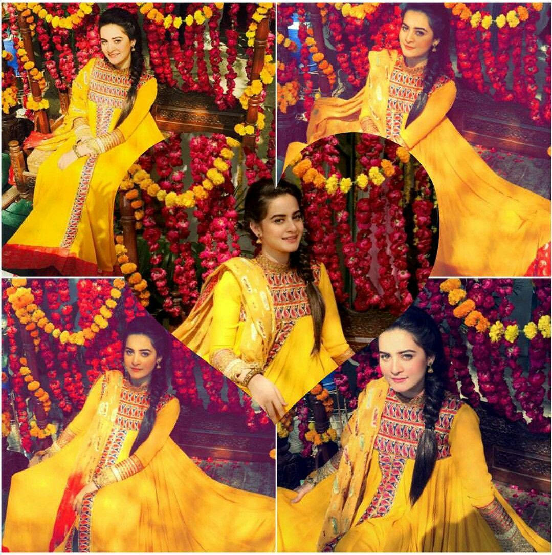 Pin By Neetu Gagan Gauba On Mehndi: Aiman Khan Absolutely Stunning Beauty In Yellow #AimanKhan