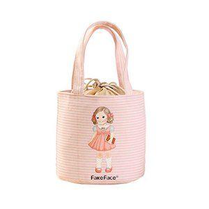FackFace® Enfant Bébé Sac de Repas Isotherme Glacière Portable Style Rayures Fille Mignonne Bag Lunch Sacoche à Déjeuner Fraîcheur…