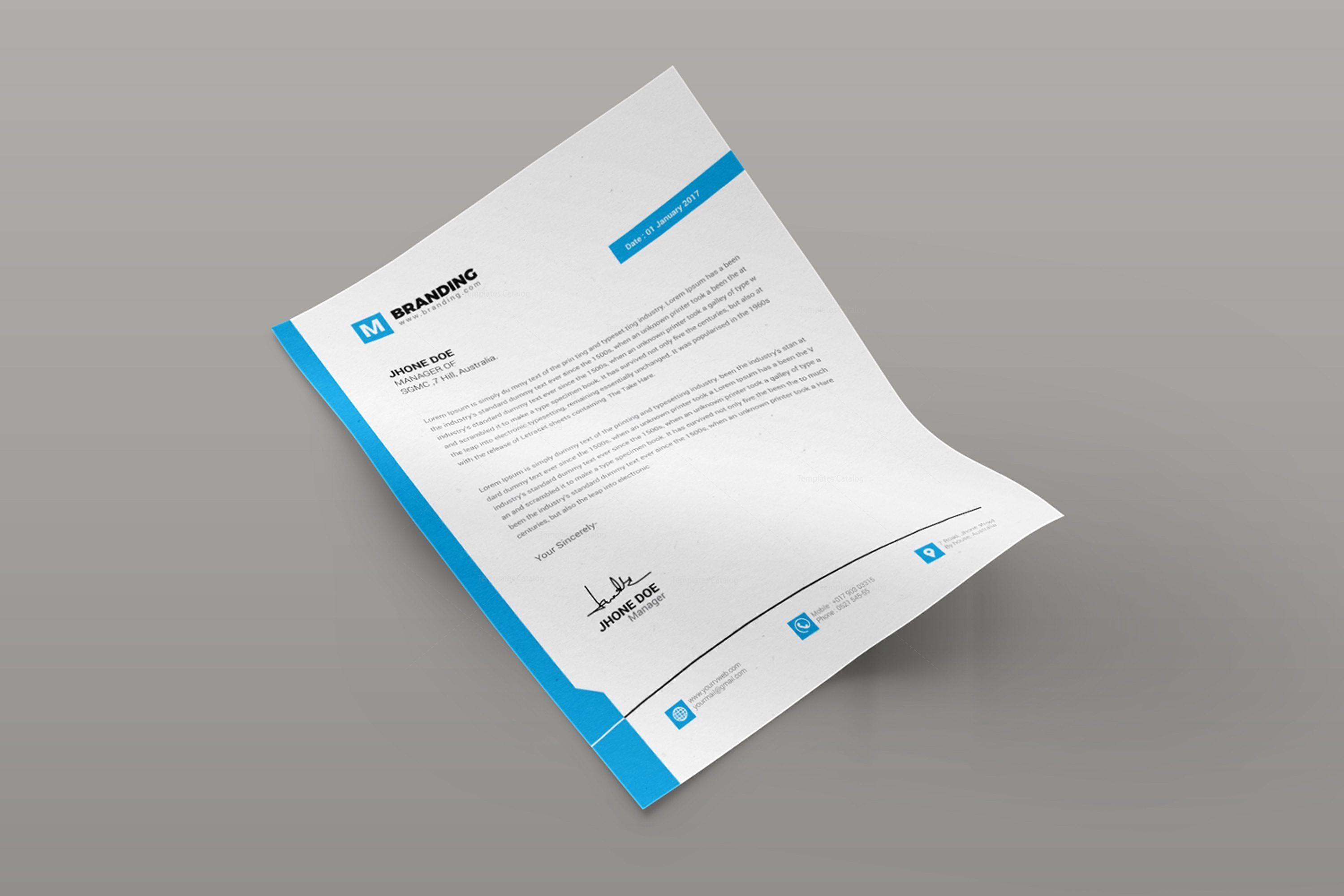 plain creative corporate letterhead design template personal profile cv no experience for freshers mechanical engineer best product manager resume examples