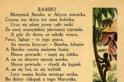 Murzynek Bambo (With images) | Dzieciństwo, Rymowanki, Wiersze