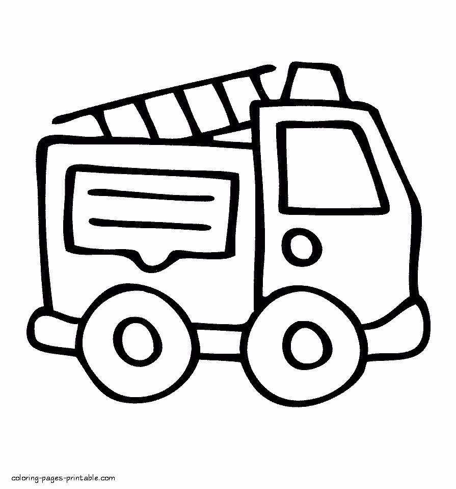 Fire Truck Printable Coloring Page Luxury Coloring Coloring Pages Free Fire Truck Printable To Monster Truck Coloring Pages Easy Coloring Pages Coloring Pages