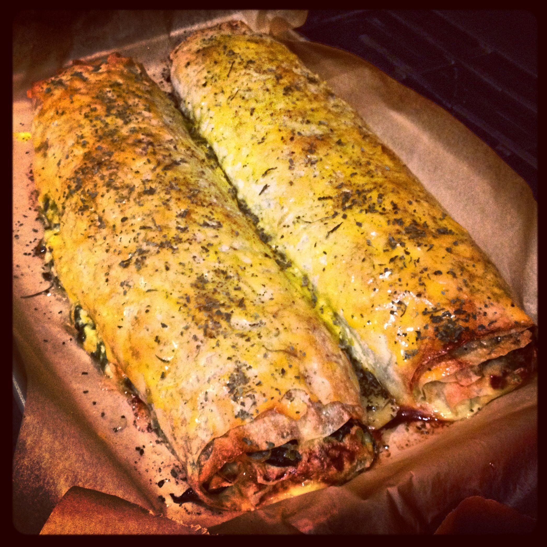 Spinach & Fresh Herb Pita!  Saturday Pita Party!
