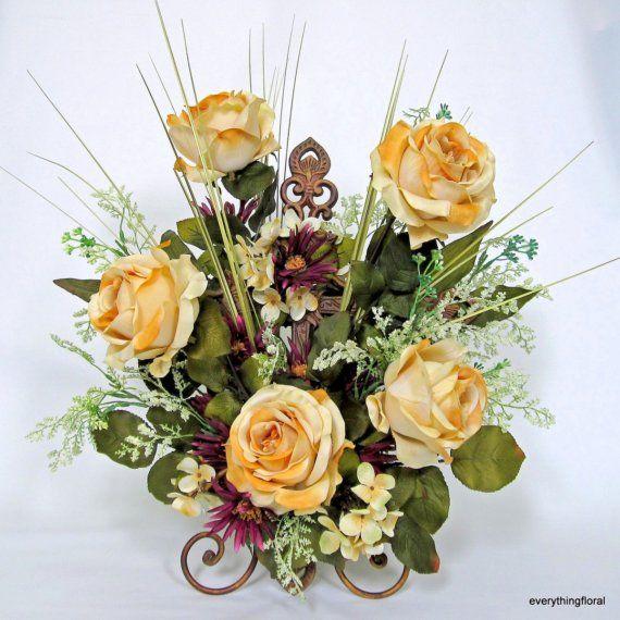 Silk flower arrangement flower arrangements pinterest silk silk flower arrangement mightylinksfo