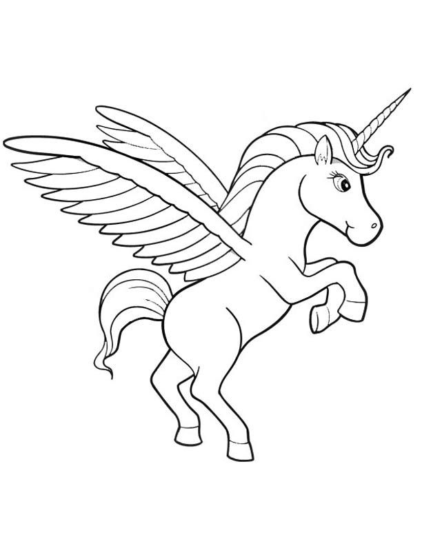 Unicorn Coloring Pages As mystical