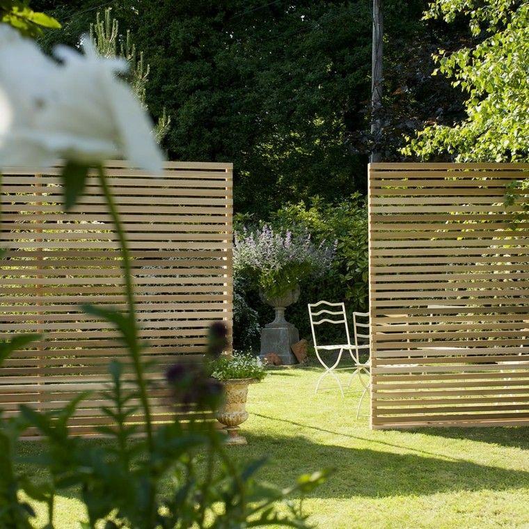 Vallas de madera y vallas met licas para el jard n valla - Valla madera jardin ...