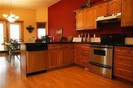 eye-pleasing paint colors for kitchens with oak cabinets | burnt
