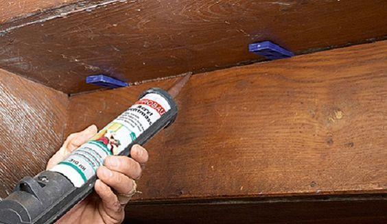 satt acryl oder dichtmasse kein silikon in den spalt dr cken treppe pinterest. Black Bedroom Furniture Sets. Home Design Ideas