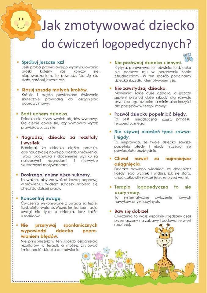 ćw Logopedycze Logopedia Pinterest Logopedia Terapia