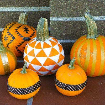 Belles idées de décors pour les citrouilles d'Halloween