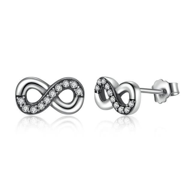 EYS Jewelry Heart Glitter Crystals White 4x 5mm Titanium Stud Earrings HNtVFzNyG