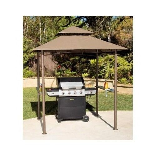 Outdoor Grill Canopy Gazebo Tent Garden Patio Shelter BBQ Cover Double Roof  8x5