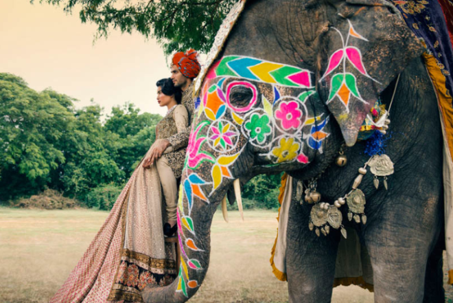 Shot by Signe Vilstrup for Vogue India