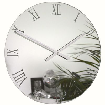 Mirrored Wall Clock large vintage roman gold square wall clock uk | for the home