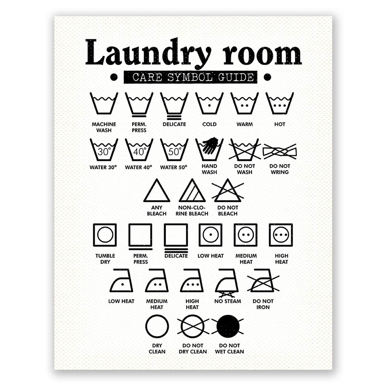 Amazon Com Pgbureau 11x14 In Laundry Room Decor Wall Art