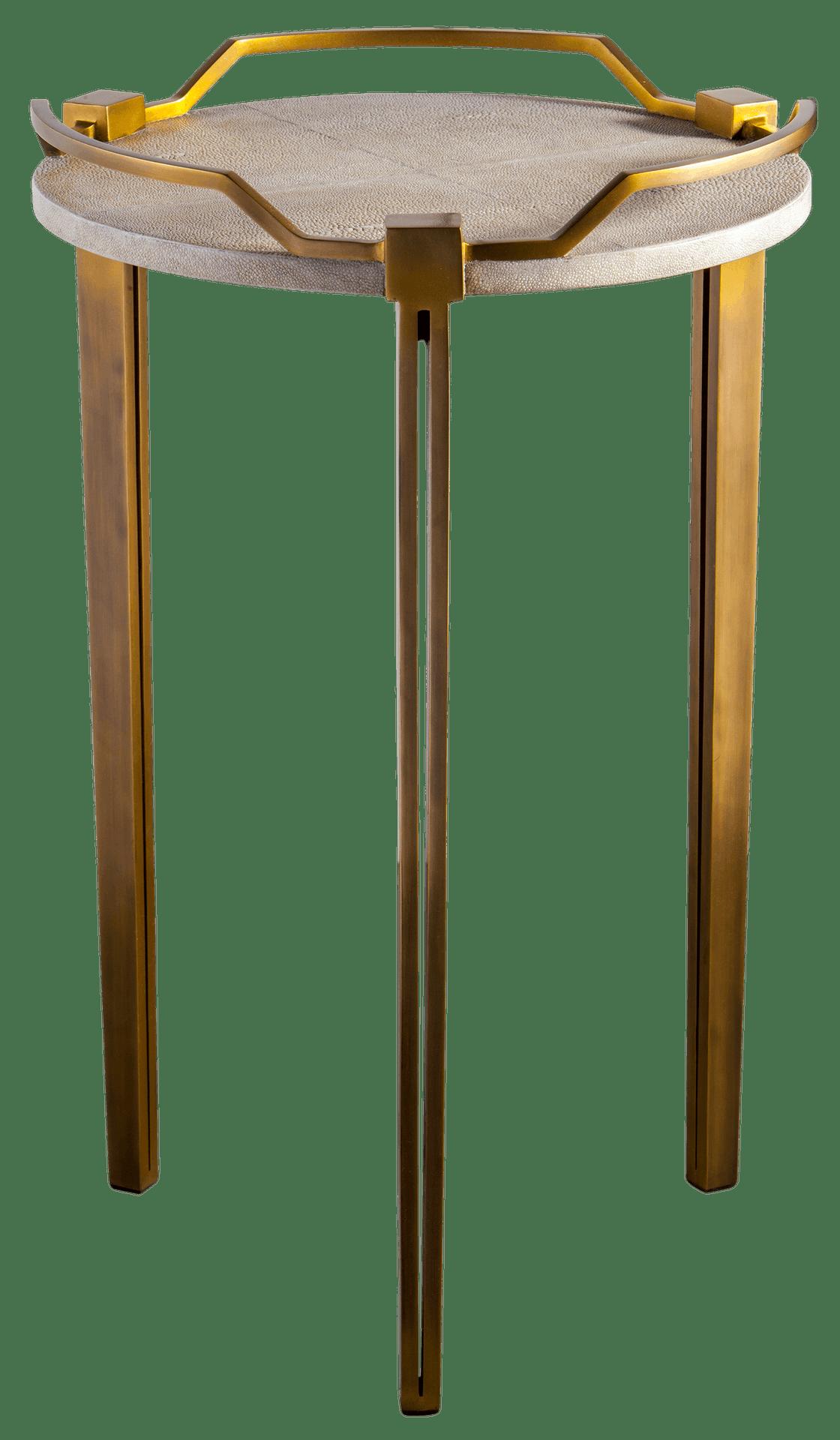 Putnam Mason Shagreen Brass Accent Table Furniture Furniture
