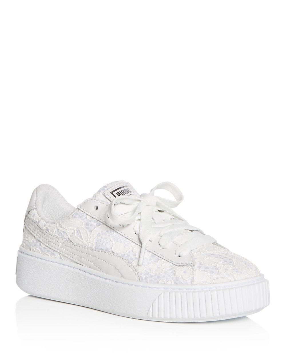 cb2d757b367 PUMA PUMA Women s Basket Classic Floral Lace Lace Up Platform Sneakers.   puma  shoes