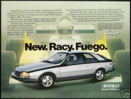 La Renault Fuego 2 pages Publicité Advertising 1980