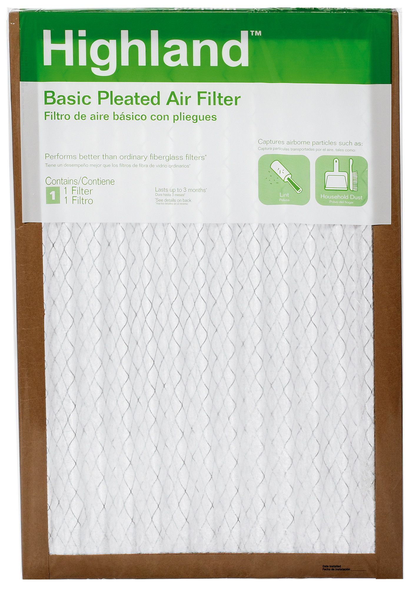 Highland Basic Pleated Air Filter Air filter, Filters