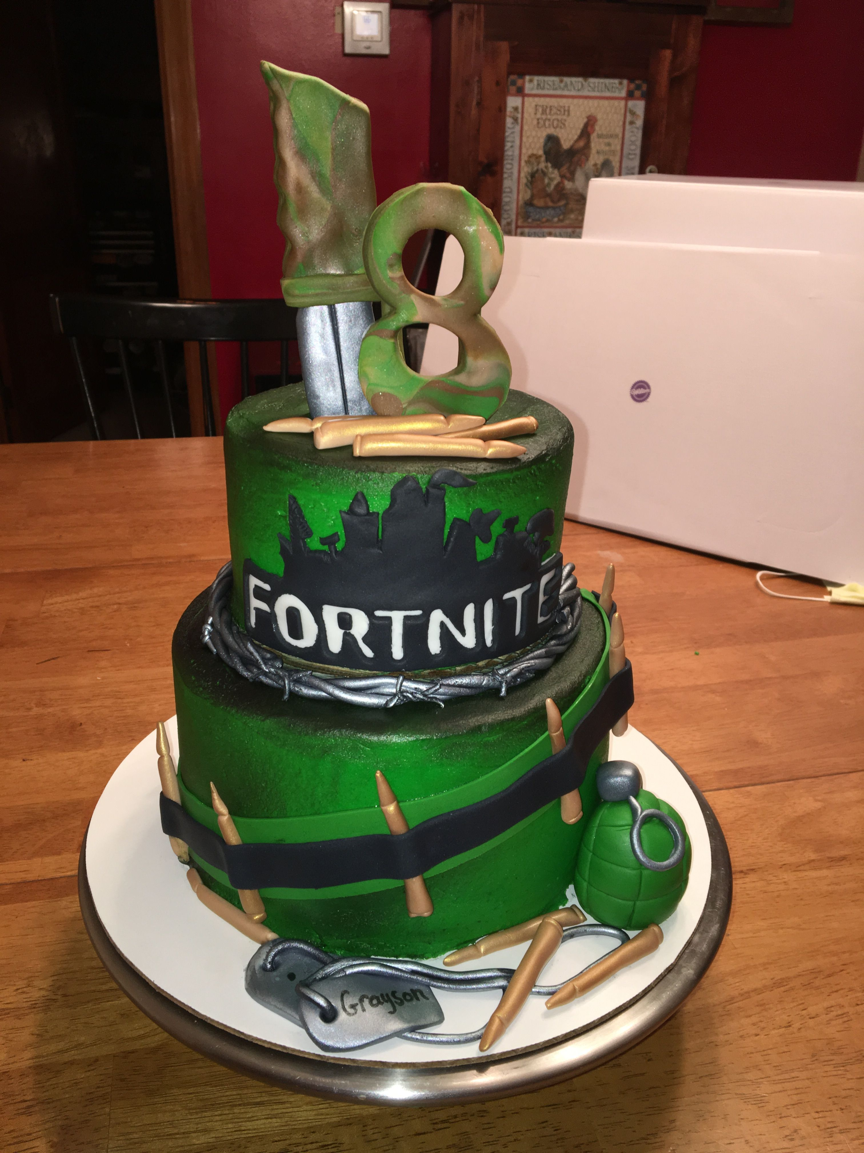 Cool Fortnight Cake Cake Sweets Desserts Funny Birthday Cards Online Overcheapnameinfo