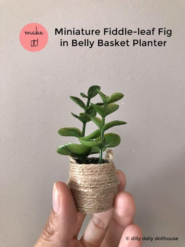 DIY dollhouse planter