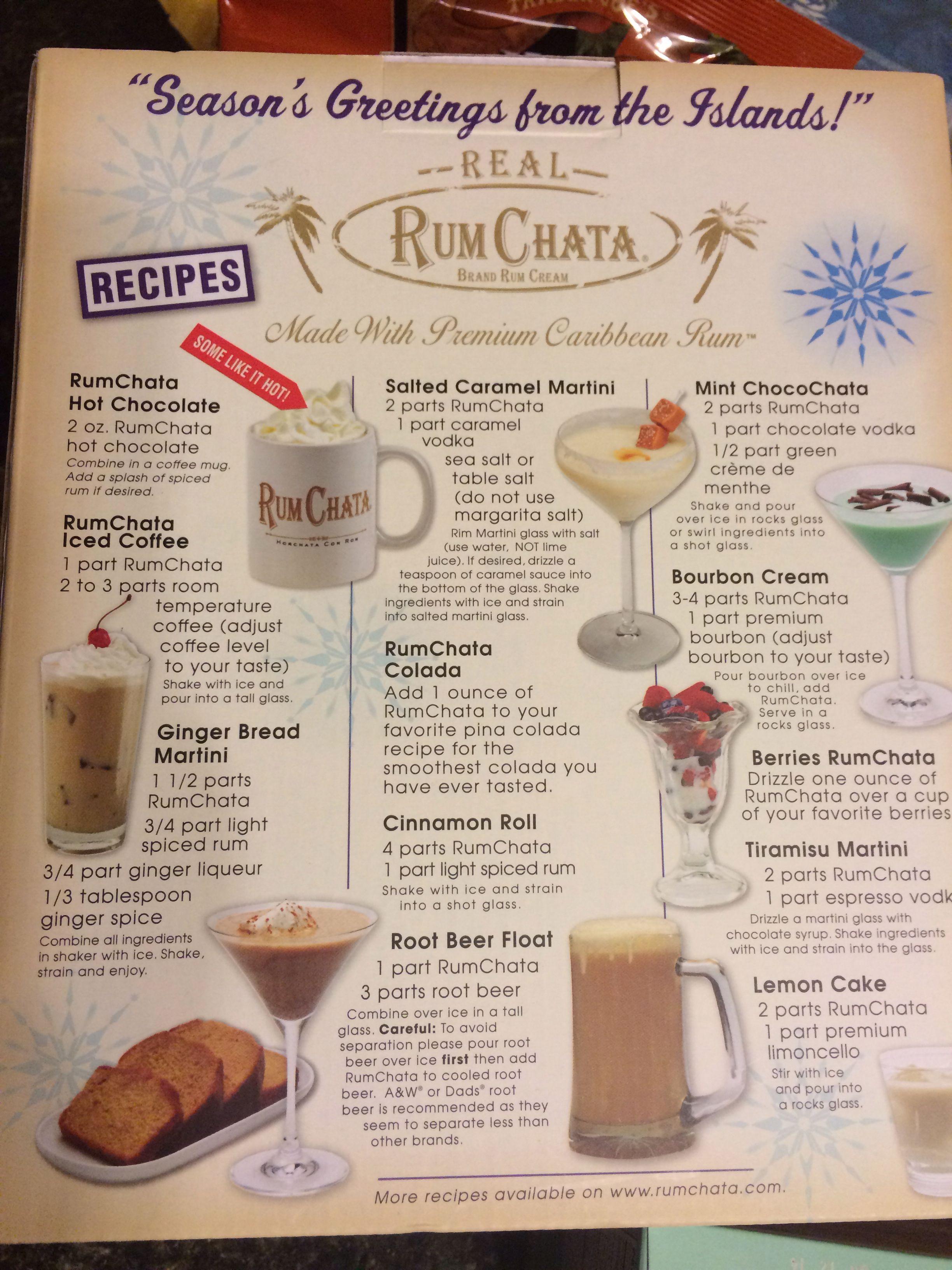 Pin by Christina Aranda on AMAZING Drinks  Rumchata recipes