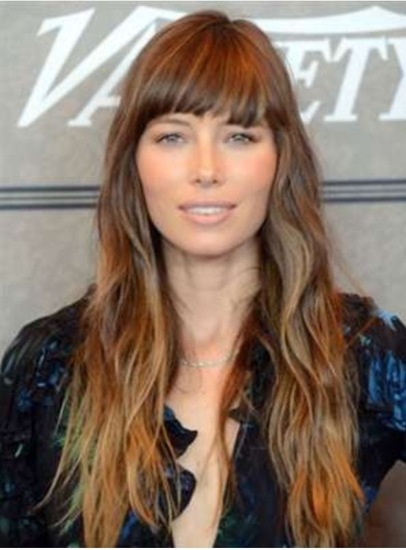 Long Hair And Bangs Absolutely Love Jessica Biels