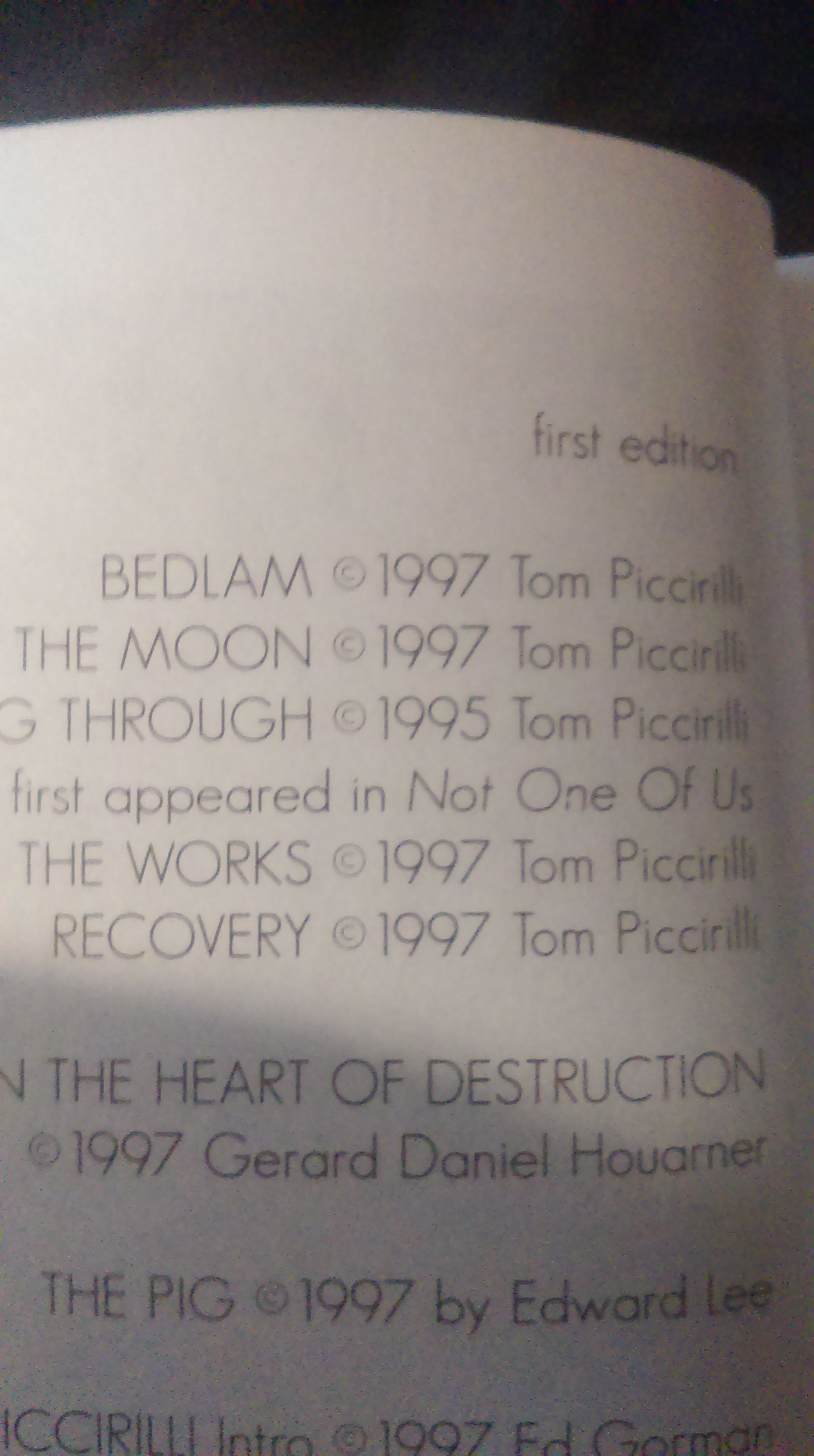 This Is The Copyright Page For Inside The Works Published By Necro Publications 1997 Email Me Re Questions Pricin Hard To Find Books It Works Copyright Page