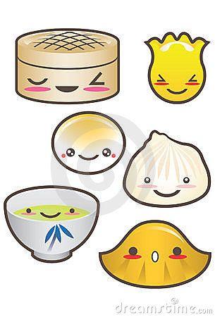 Cute Looking Dim Sum Cute Food Drawings Dim Sum Paper Doll House