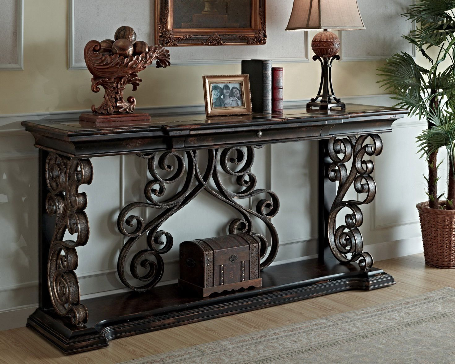 Phenomenal Sorrento Console Table In Black By Eastern Legends Furniture Gmtry Best Dining Table And Chair Ideas Images Gmtryco
