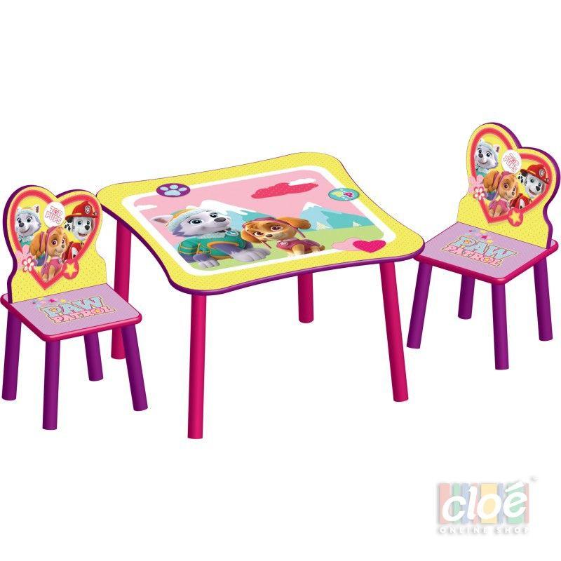 Set masuta si 2 scaunele Paw Patrol Girl