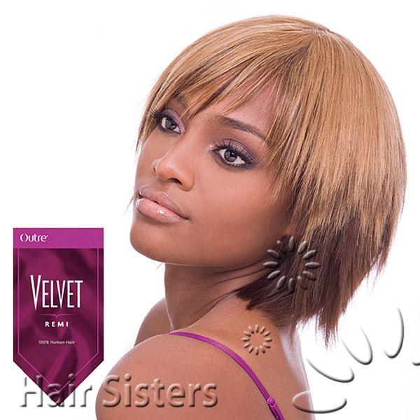 Outre 100 Remy Human Hair Weave Velvet Remi Yaki 6 Half Pack