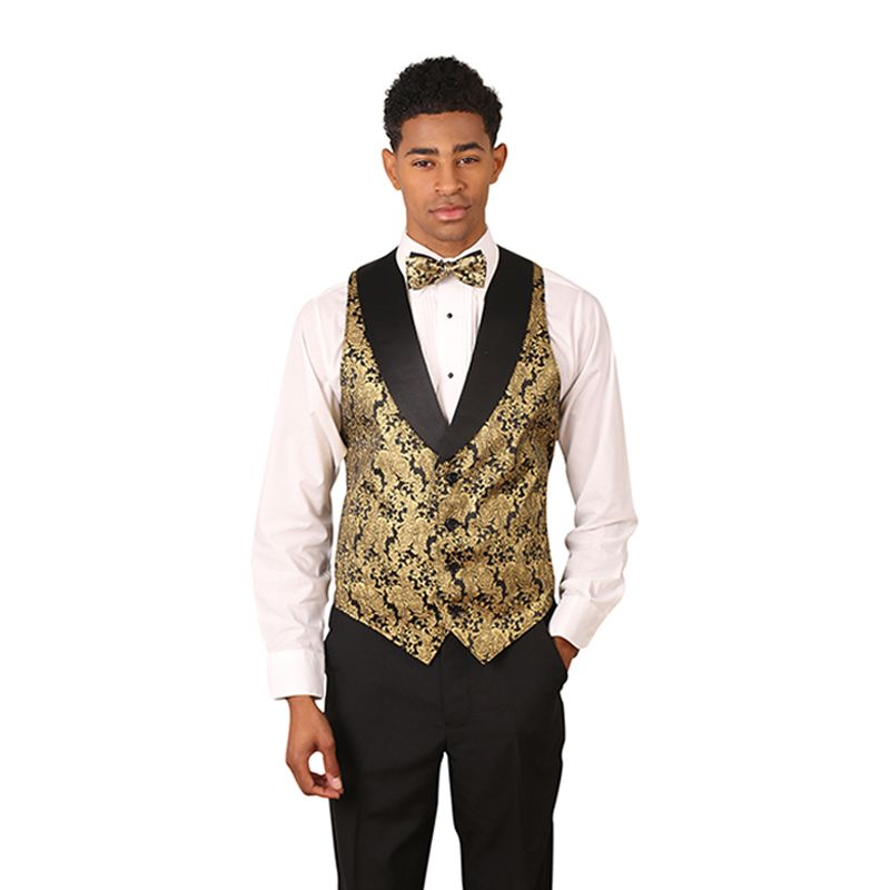 Metallic Gold Vest with Lapel for fine dining - $30 | Restaurant ...