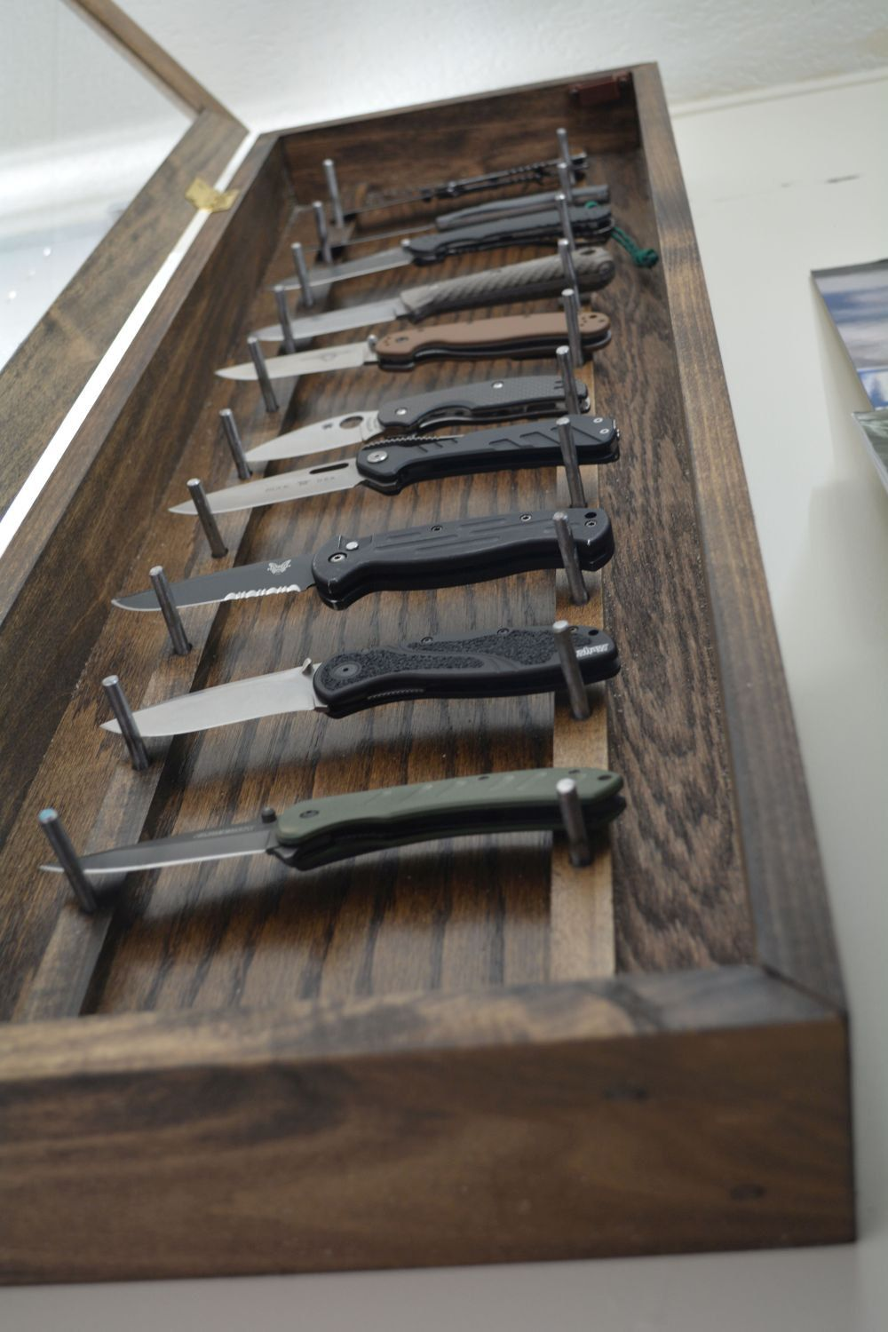 Knife Display Case | Wall Mounted Knife Display Cabinet | Knife ...