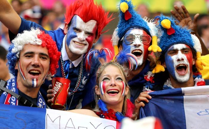 2e8f1c960 France Fans Happy Faces with flag of country. France Fans Happy Faces with  flag of country World Cup 2018 ...