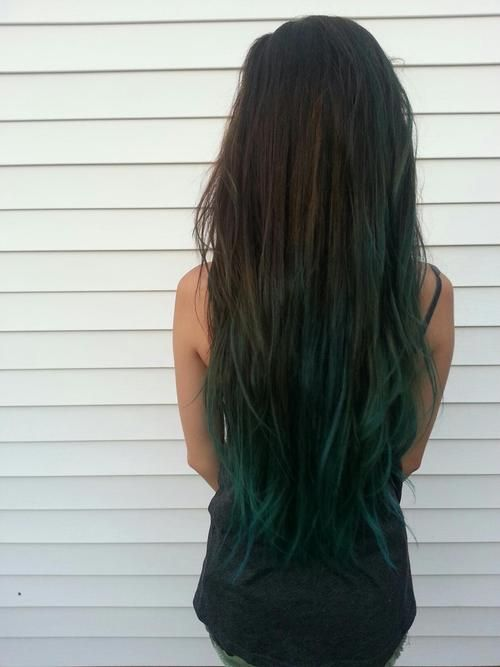 Forest Green Ombre O O Green Hair Dark Green Hair Olive Hair