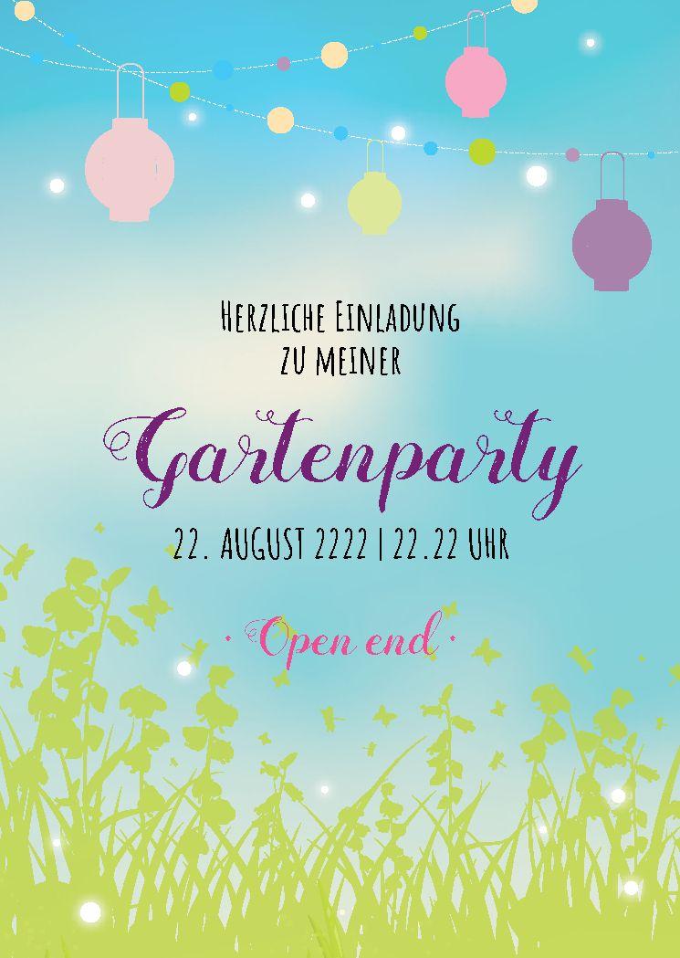 Vorlage gartenfest einladung Einladung Gartenfest