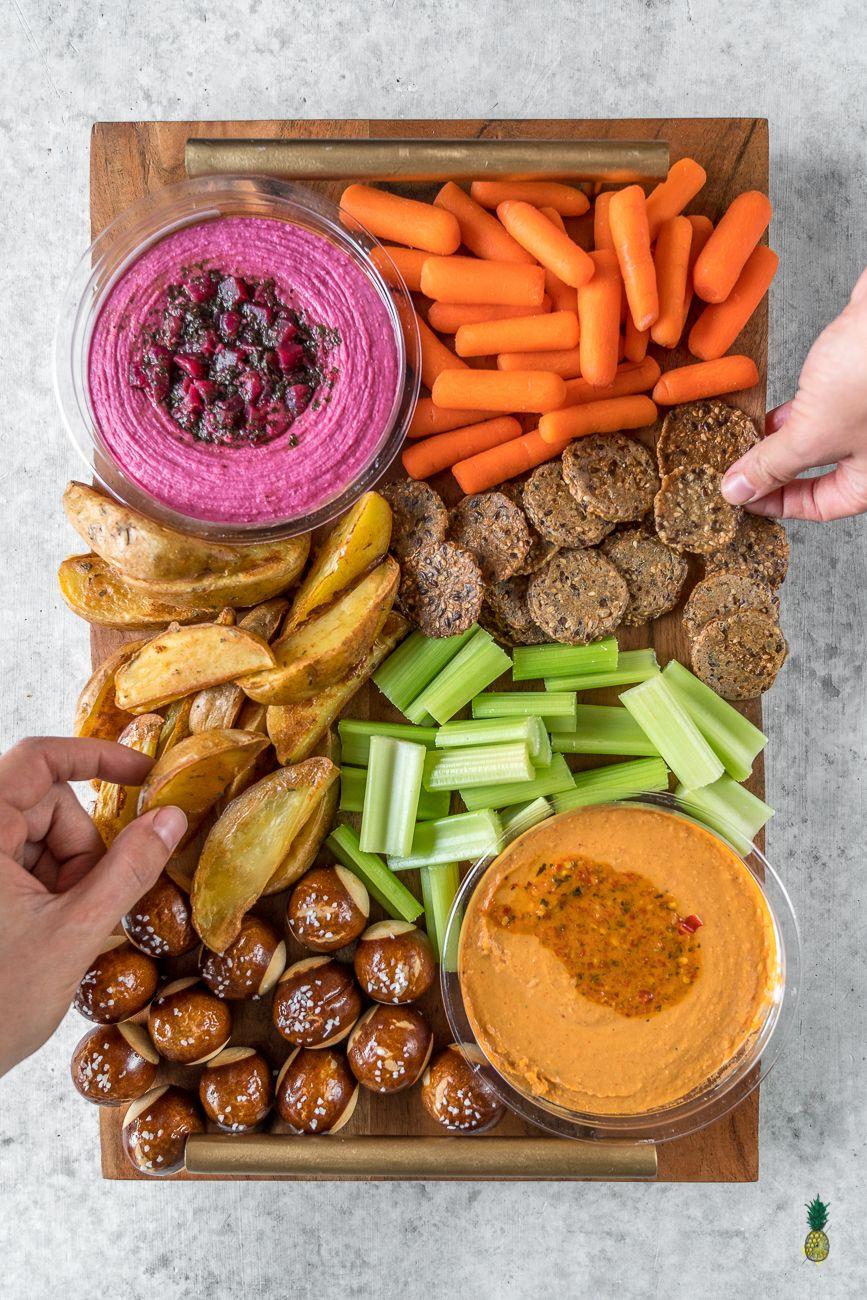 Baked mojo fries oilfree vegan super bowl party