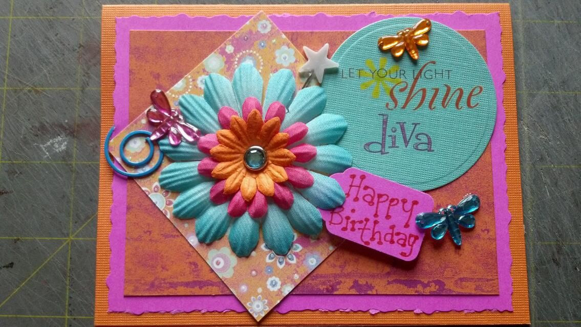 Birthday card for a little 12 year old diva!