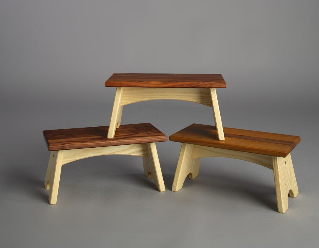 Luxury Wooden Bed Step Stool