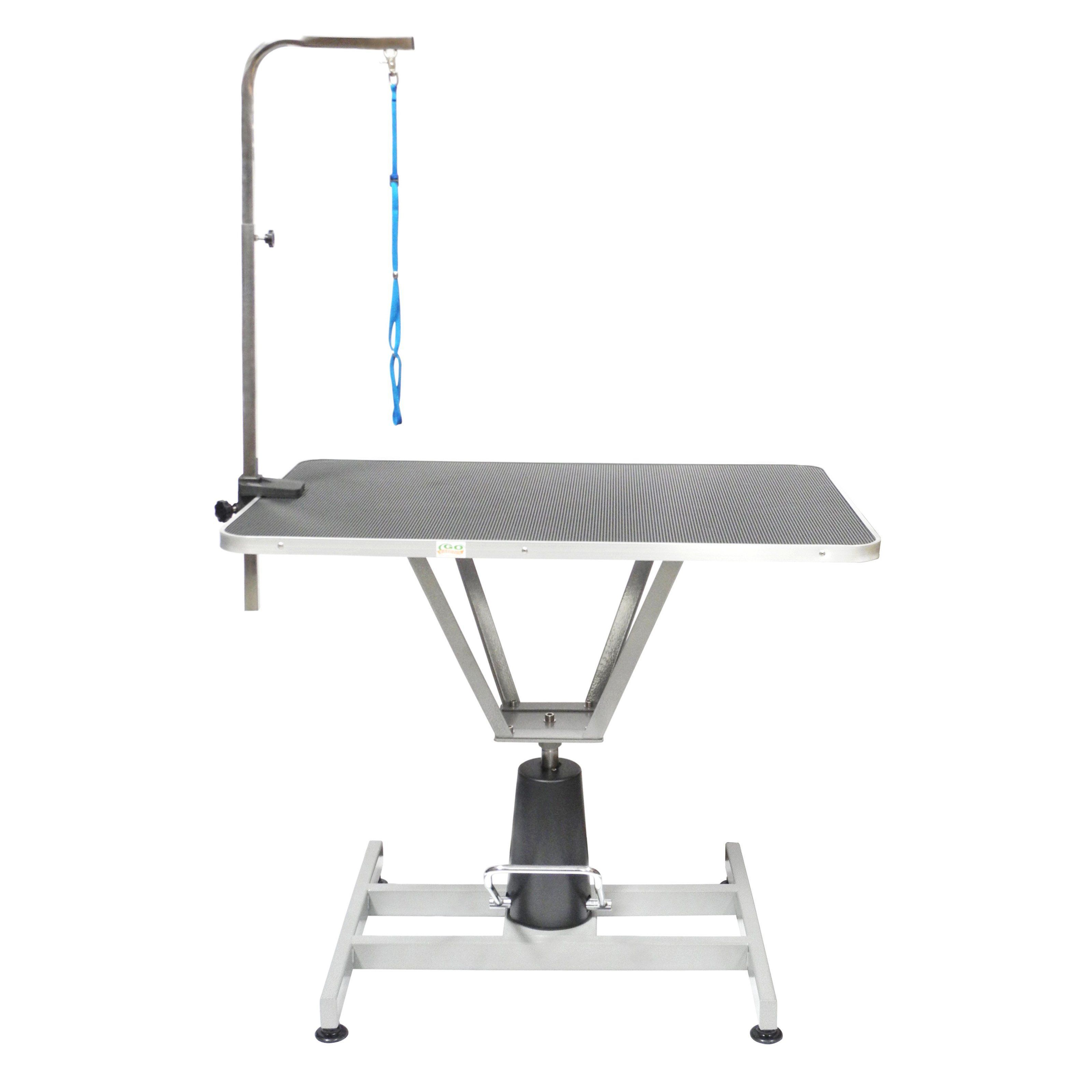 Go Pet Club 36 In Pet Dog Hydraulic Grooming Table With Arm Hgt