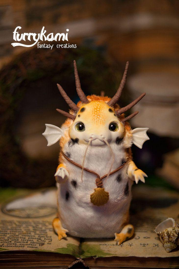Koi carp dragon handmade toy by furrykami creatures on for Peluche carpe koi