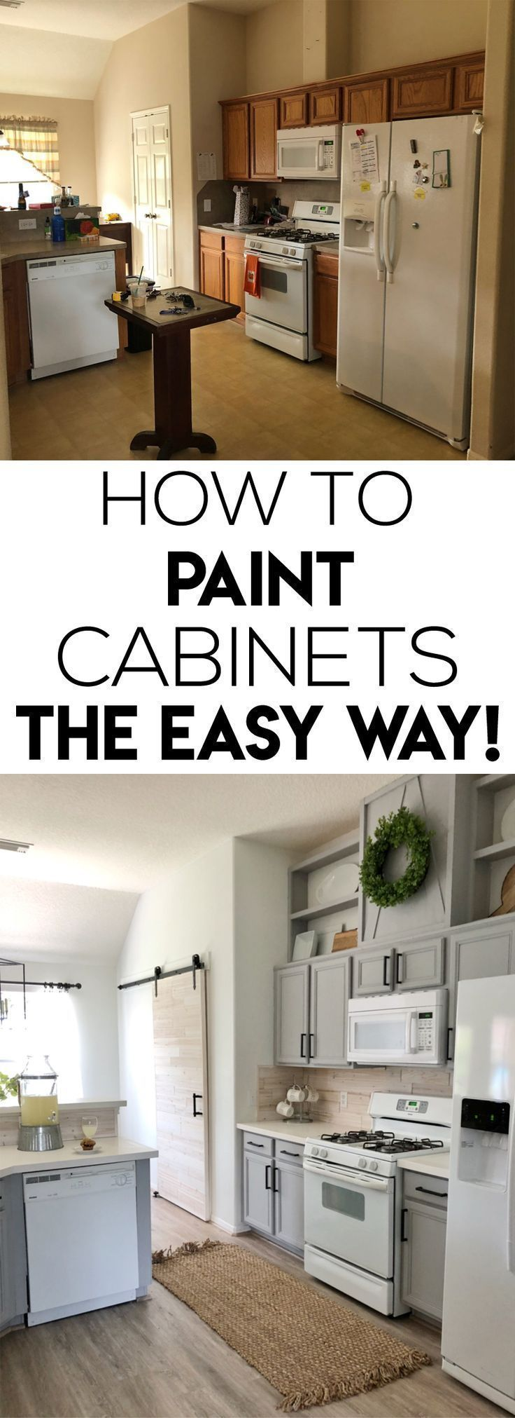 How To Easily Paint Kitchen Cabinet New Kitchen Cabinets Kitchen Cabinets Kitchen Renovation