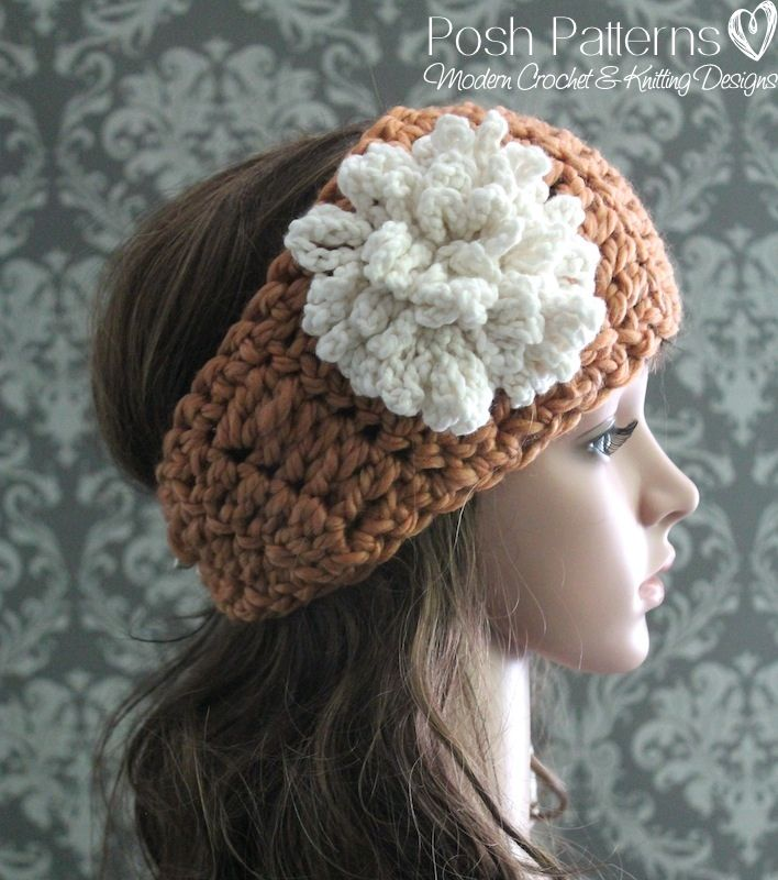 Free Crochet Headband Pattern | Tejido