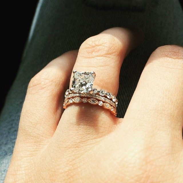 Mismatched Wedding Band Help Inspiration Please Weddingbee Art Deco Wedding Rings Mismatched Wedding Bands Pave Diamond Engagement Rings