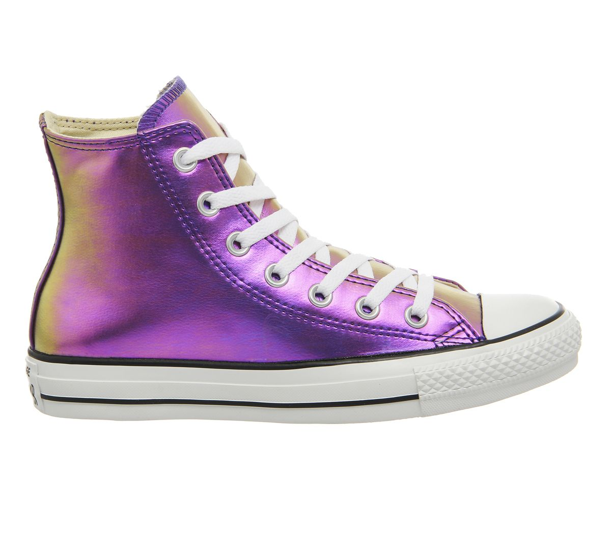 Buy Purple Iridescent Converse All Star Hi from OFFICE.co.uk.